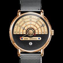 "DOM Đồng Hồ Nam Đồng Hồ Sáng Tạo Đồng Hồ Kim Đồng Hồ Đeo Tay Nam Sang Trọng Nam Đồng Hồ Reloj Mujer ""Bayan Saat M 1288GK 9M"