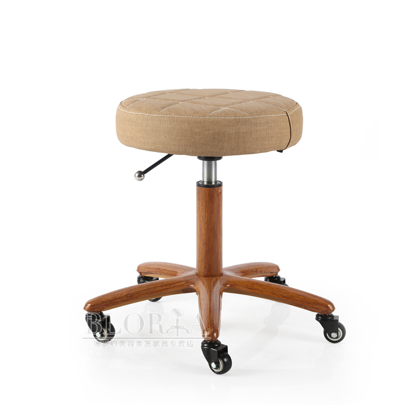 Bar Chair Cashier   Round Stool High  Simple Backrest Lift  Rotating Beauty