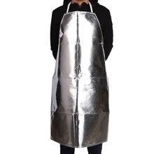 الألومنيوم احباط المئزر مقاومة للحريق العزل مكافحة ارتفاع درجة الحرارة ملابس واقية مكافحة السمط المضادة للإشعاع مآزر السلامة