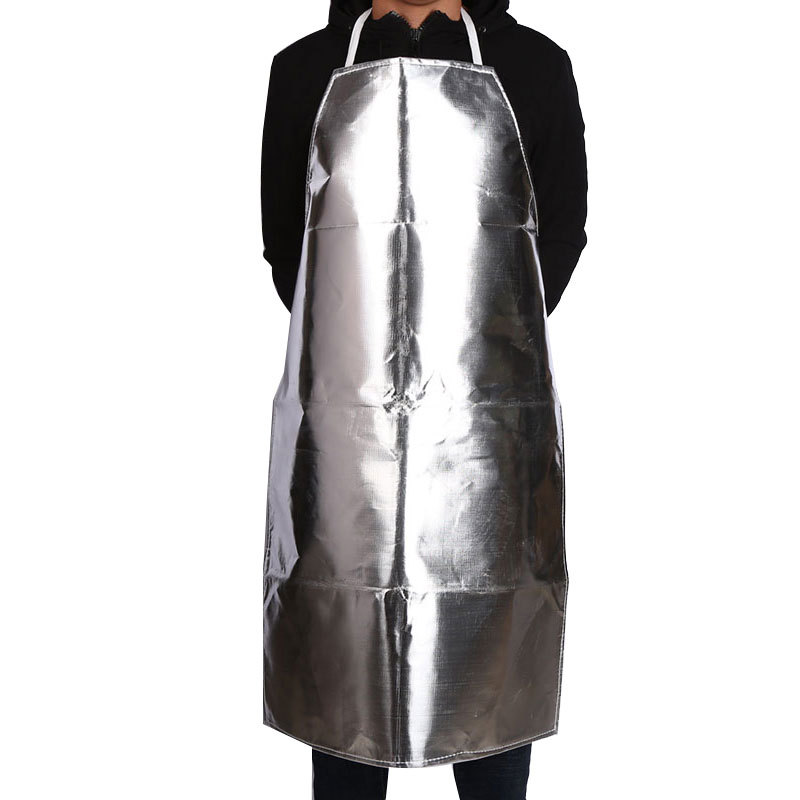 Aluminum Foil Apron Fireproof Insulation Anti-high Temperature Protective Clothing Anti-scalding Anti-radiation Safety Aprons