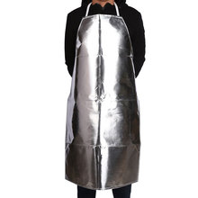 Aluminum foil Apron Fireproof insulation Anti high temperature Protective clothing Anti scalding Anti radiation Safety Aprons