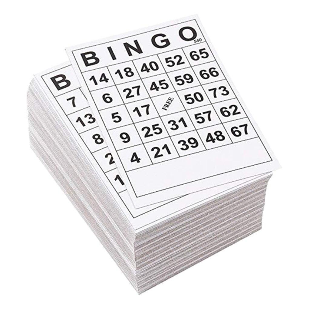 60 pièces BINGO cartes à jouer 1 sur 60 feuilles 60 Faces 60 cartes 6X7 pouces jeu de société