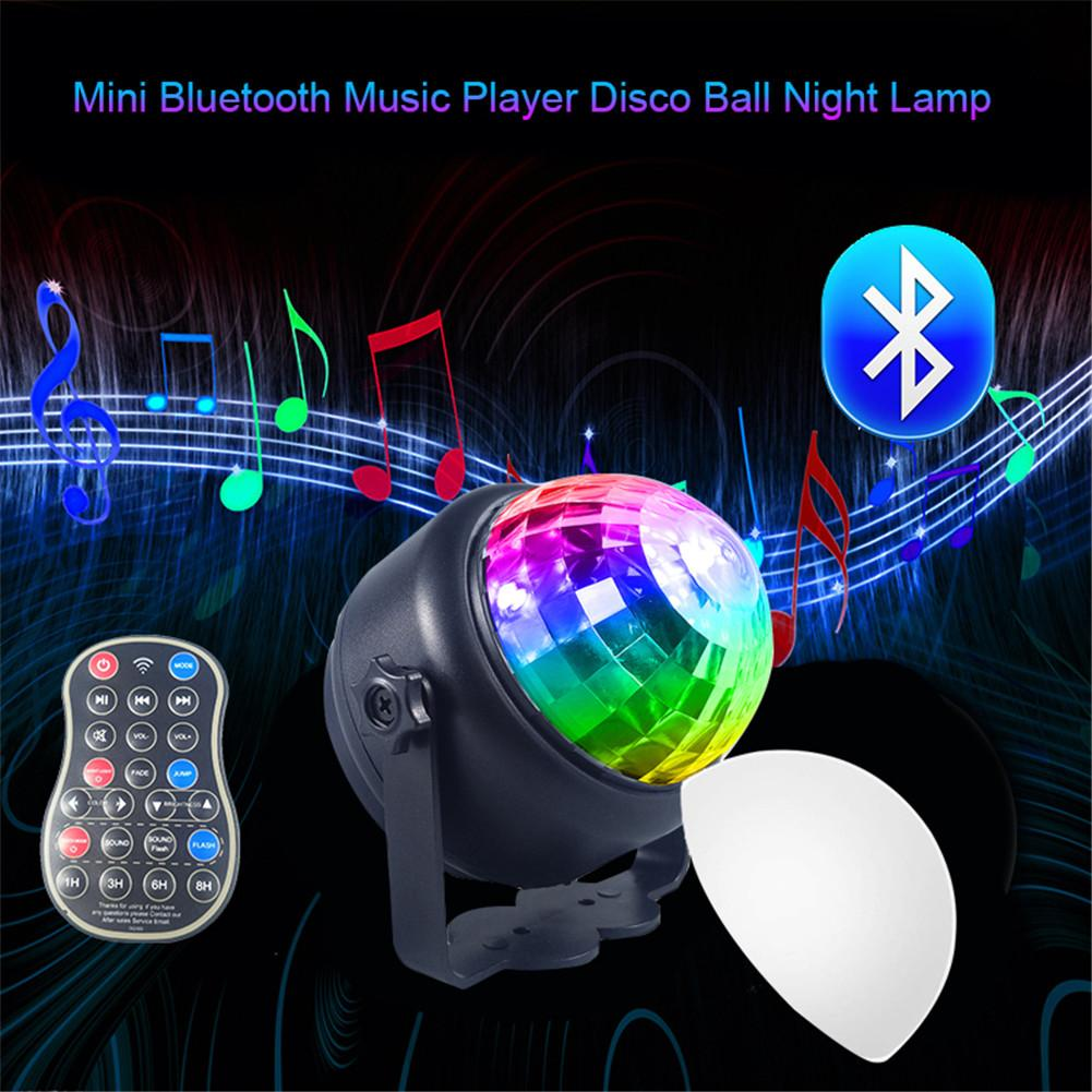 Laser Party Light DJ Stage Light Laser Projection Lamp Mini LED Bluetooth Speaker Disco Ball Light With Mp3 Player Prom Bars