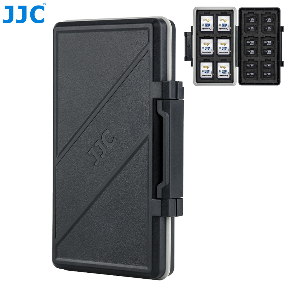 JJC 36 Slots Memory Card Case Holder Storage Organizer For 12 SD SDHC SDXC +24 MSD Micro SD TF Cards For DSLR Mirrorless Camera