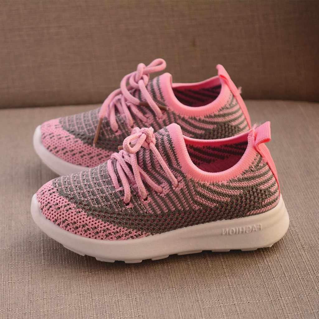 เด็กรองเท้าเด็กทารกเด็กทารกเด็กหญิงรองเท้าตาข่ายกีฬา Run รองเท้าผ้าใบเด็กรองเท้าลำลอง Tenis Infantil Menina Zapatos