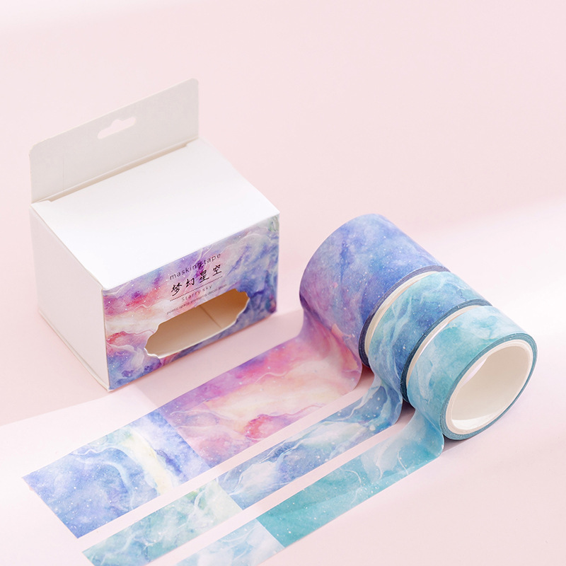 Hang Su Creative Fresh Fantasy Watercolor And Paper Tape Hand Account Materials DIY Album Diary Decorative Stickers Tape
