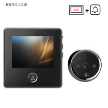 Video Doorbell Camera LCD Screen Smart Electronic Door Viewer Bell IR Night Photo Recording 1PC