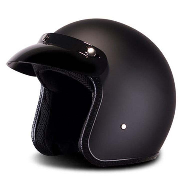 Matte Casco Moto Vintage Motorcycle Helmet Jet Capacetes De Motociclista Vespa Cascos Para Moto Cafe Racer Open Face Shine