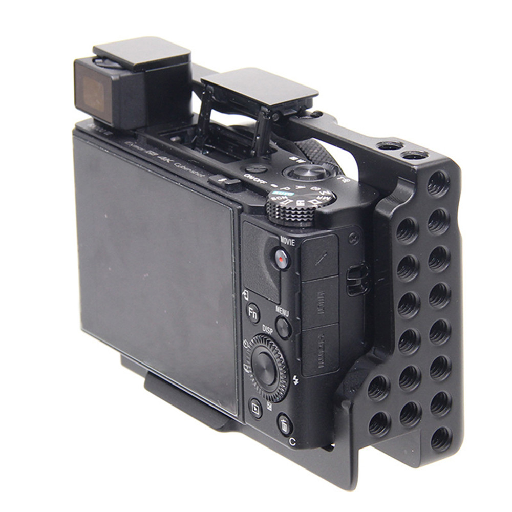 Aluminum Alloy Camera Cage with 1/4 Thread Holes for Sony <font><b>RX100</b></font> M7 VII 7 DSLR Camera Protective Cover Parts image