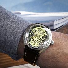 فاخر 44 مللي متر بارنيس الياقوت الزجاج الأسود الهاتفي التقويم ميوتا relogio masculino الساعات العلامة التجارية الأعلى التلقائي الميكانيكية ساعة رجالي