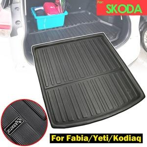 Image 1 - Voor Skoda Fabia MK3 Yeti 5L Kodiaq Cargo Boot Lade Liner Bagage Kofferbak Floor Mat Tapijt Lade Waterdichte Tailored