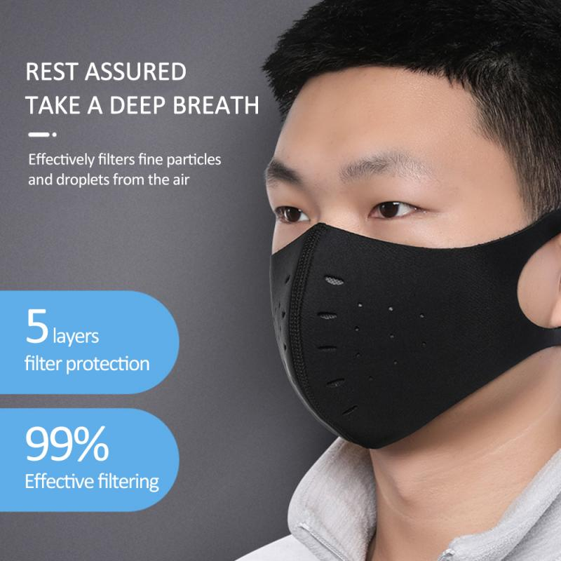Air Purifying Mask FPP3 KN95 5 Lay Carbon Filter Dust Haze Fog Respirator Anti-Dust Riding Mask Cycling Face Mask Trainning Mask