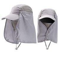 Visor Unisex sombreros de Sun Protector gorra de protección UV cubrir cuello y rostro sol protección deporte al aire libre senderismo pesca sombreros