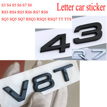 ABS Do Emblema Do Emblema Do Carro Carta Adesivo Para Sline S3 S4 S5 S6 S7 S8 RS3 RS4 RS5 RS6 RS7 RS8 SQ3 SQ5 SQ7 RSQ3 RSQ5 RSQ7 TT TTS TTRS