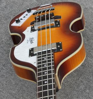 Sunburst Hofner skrzypce BB2 bas Hofner BB2 współczesnej elektryczna gitara basowa płomień klon basowa hofner gitara na stanie darmowa wysyłka tanie i dobre opinie Rosewood Maple Beginner Unisex Profesjonalna wydajność Strona główna-schooling Hofner guitar Other Pasywny zamknięte typu