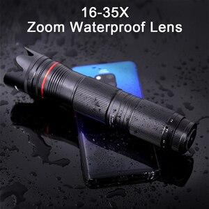 Image 3 - 4K HD 3 Sezione Regolabile 16X   35X Zoom Ottico Teleobiettivo Obiettivo della Fotocamera Del Telefono Per Smartphone Lente Monoculare telescopio Lenti