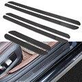 Универсальная автомобильная Накладка на порог  2 шт.  Защитная панель из углеродного волокна  декоративные наклейки S/M/L