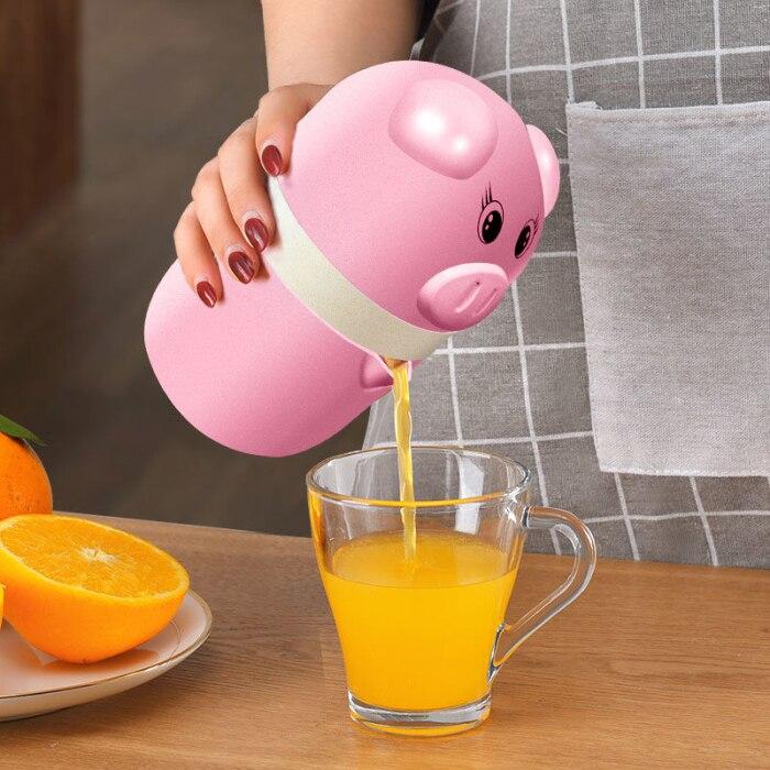 Мини-соковыжималка Милая свинья мини ручная соковыжималка Бытовая фруктовая Апельсиновая Цитрусовая Бутылка Соковыжималка Hogard