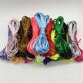 Шнур нейлоновый атласный 2 мм, шнур Шелковый погремушечный разных цветов для бисероплетения, 20 метров