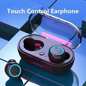 Bluetooth наушники с сенсорным управлением, наушники TWS, наушники Blutooth, гарнитура Handsfree, спортивные наушники, игровая гарнитура, стерео 5,0
