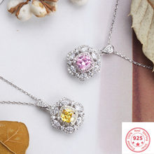 Silver 925 Jewelry Necklace Diamond Pendants for Women Colgante Plata De Ley 925 Mujer Bizuteria Gemstone Jewelry Pendant Girls(China)