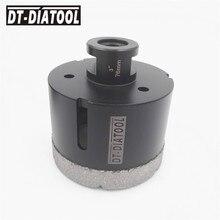 "DT-DIATOOL 1pc 5/8-11 Thread Dia 3"" Vacuum Brazed Diamond Dry Drilling Core Bits Porcelain Tile Granite Marble Stone Hole Saw"