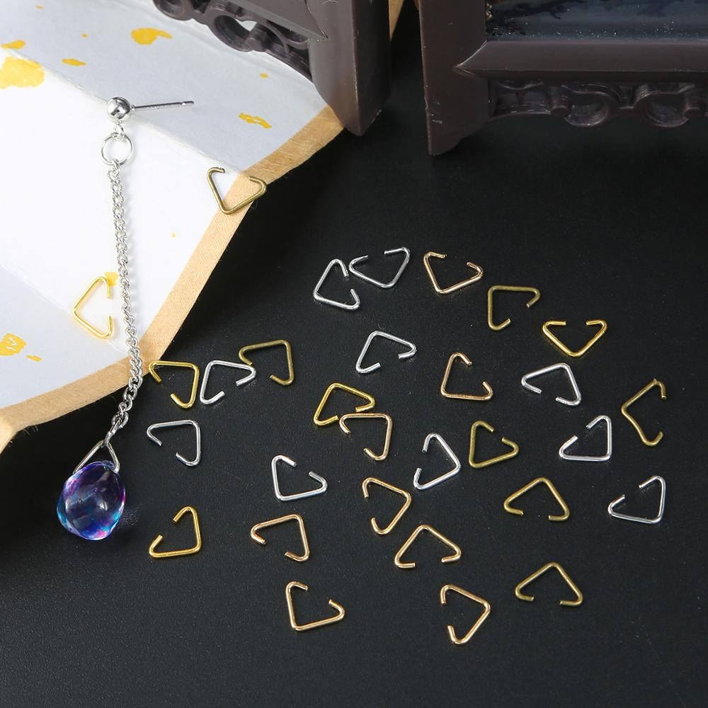 100pcs/20pcs 6x10mm Triangle Clasps Buckle Loops Jump Rings Split Rings Connectors Clasps Hooks For Jewelry Making Accessories