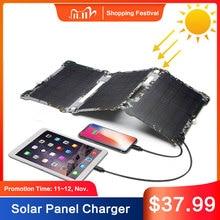 Carregador de painel solar impermeável ao ar livre carregadores solares para iphone 7 8 x xr xs max huawei p30 xiaomi samsung s9 lg sony.