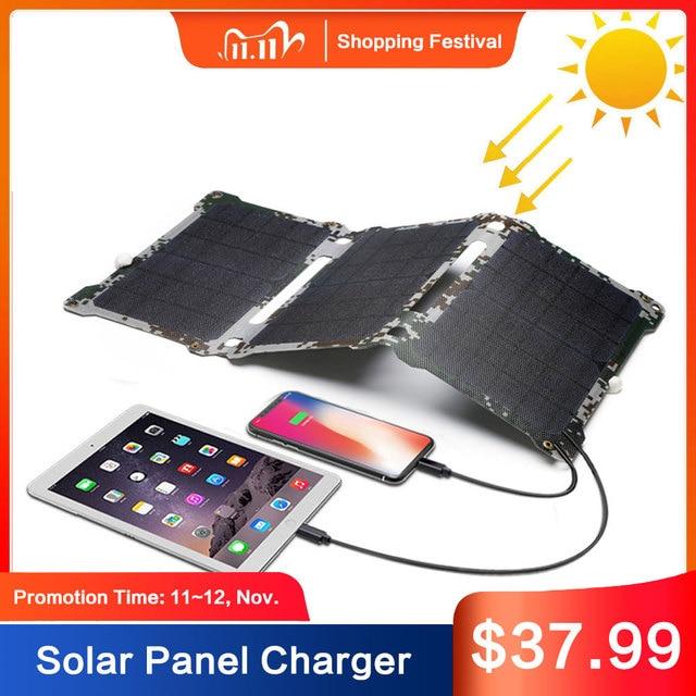 Chống Thấm Nước Năng Lượng Mặt Trời Sạc Ngoài Trời Đèn Sạc Năng Lượng Mặt Trời Cho iPhone 7 8 X Xr Xs Xs Max Huawei P30 Xiaomi Samsung s9 LG Sony.