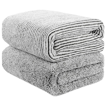 Bamboo Charcoal Fiber Bath Towel Set for Adults Luxury Body Bath Beach Towels Absorbent Soft Shower Face Towel Wrap for Bathroom