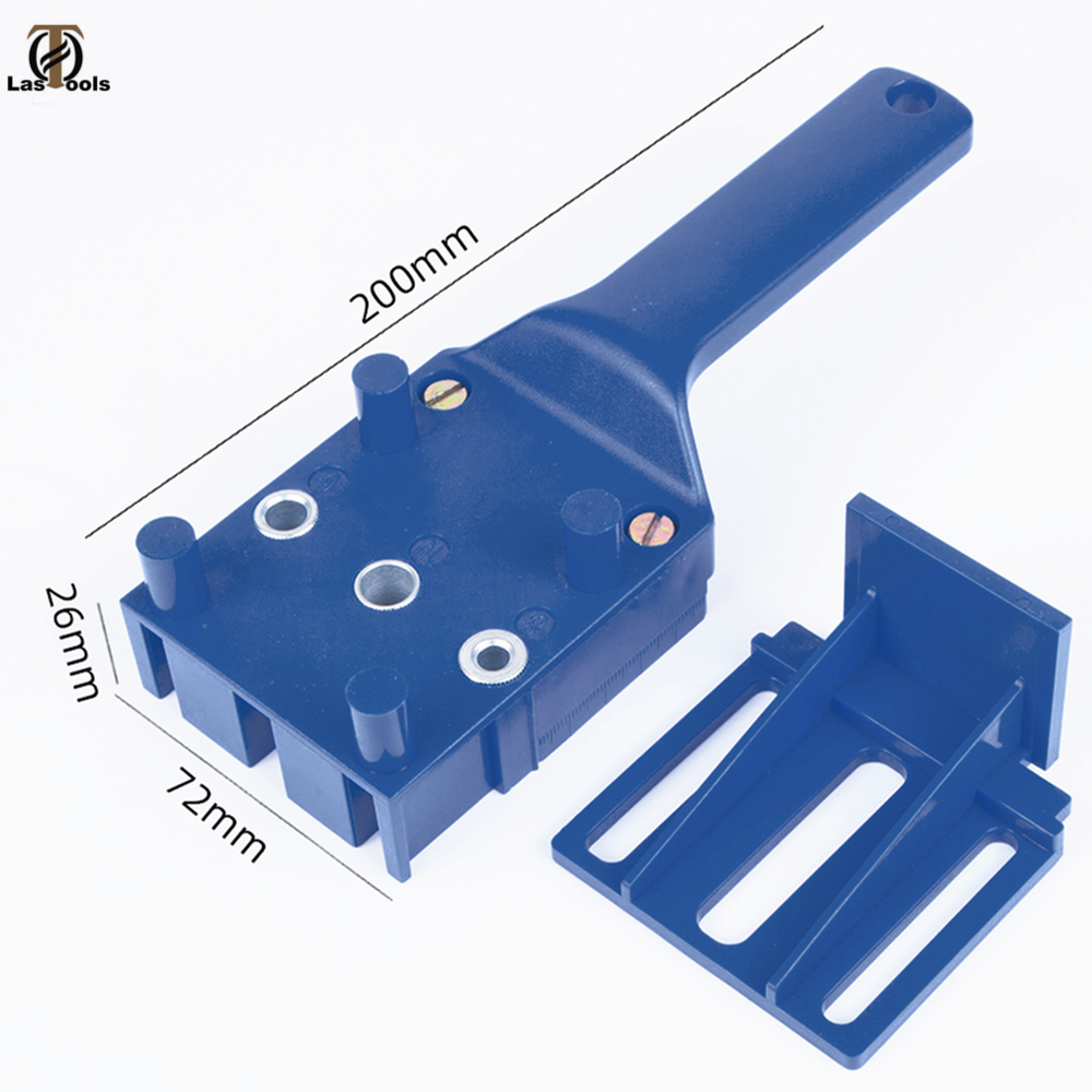 Woodworking Dowel Jig Fits 6 8 10mm Drill Bits Wood Drilling Doweling Hole Saw Tools Handheld Drill Guide With Metal Sleeve
