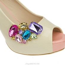 Shoe-Charms-Accessories Shoe-Buckle Crystal-Decorations-Clips Color-Flower Strass Jy15