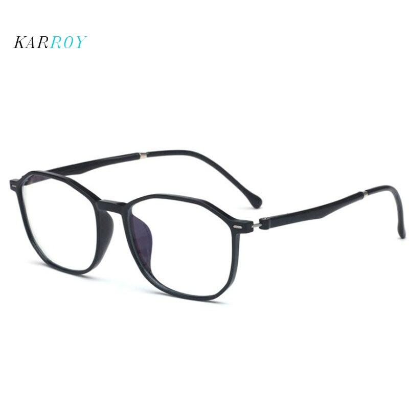 Retro TR90 Myopic Eyeglasses  Frame Women New Blue- Proof Computer Plain Glasses Men Opticl Frames