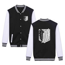 Attack on Titan Anime Baseball Jacket Streetwear Coat Casual Trackusuit Coats and Jackets Plus Size Clothes(China)