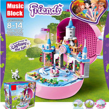 New Heartlake Friends Fit Friends Figures City Girls Castle MUSIC BOX Building Block Bricks Princess Toys Kid Christmas Birthday цена