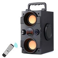 TOPROAD-altavoz portátil por Bluetooth, altavoz de graves inalámbrico de gran potencia de 30W, Subwoofer compatible con Control remoto, FM, MIC, AUX, USB