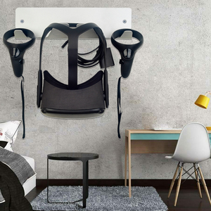 Image 4 - Einfach Installieren Metall Halterung VR Headset Lagerung Controller Wand Montiert Ständer Halter Zubehör für Oculus Rift S für HTC