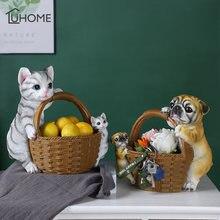 Креативные статуэтки для кошек собак дома гостиной входа фэн