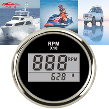 52mm Marine Boat RV Automotive Exhaust tachometer Gauge With Mating Sender 0-32V 0-800 Celsius 316L Stainless Steev 810-00250