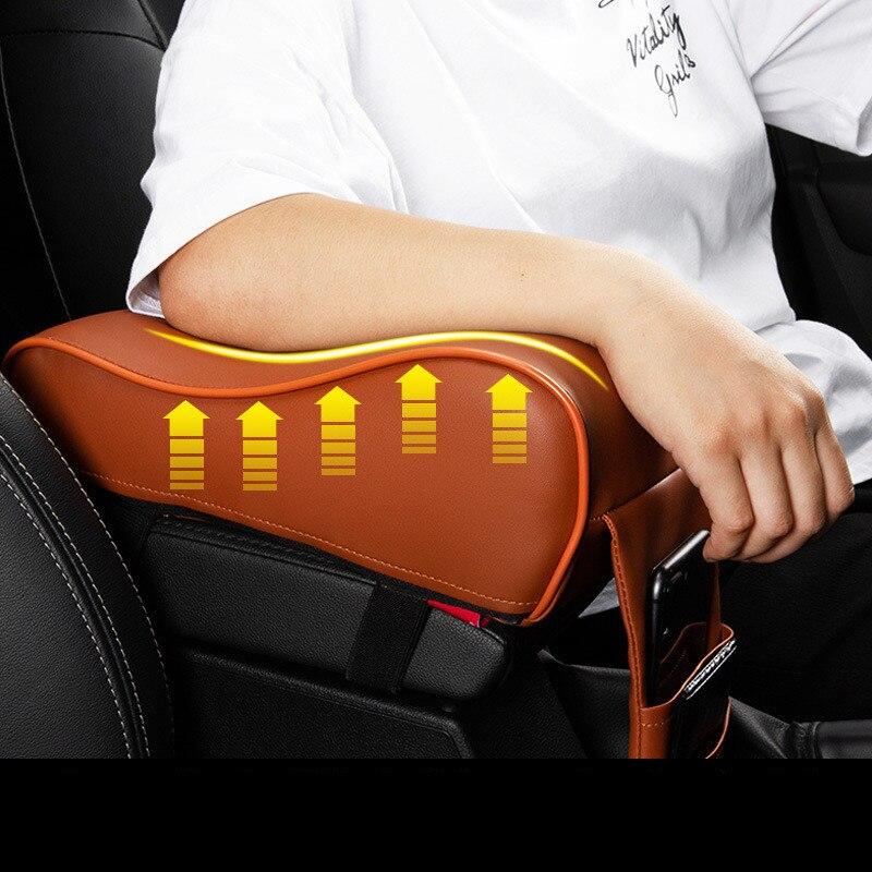 Almohadilla de reposabrazos Universal para coche, reposabrazos de coche, compartimento central para coche, reposabrazos, caja de asiento, protección para vehículo, estilismo para coche