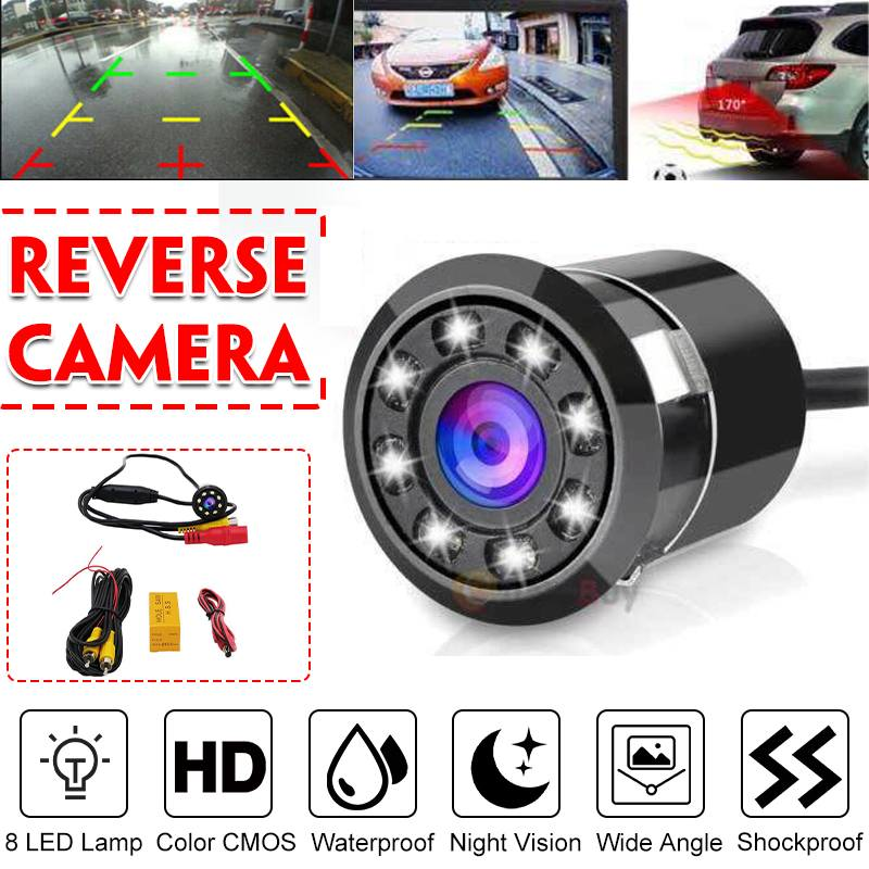 170 Degree Anti-fog HD CCD Car Rear View Reverse Night Vision Backup Parking Camera IP68 Waterproof Wired Vehicle Camera For Car