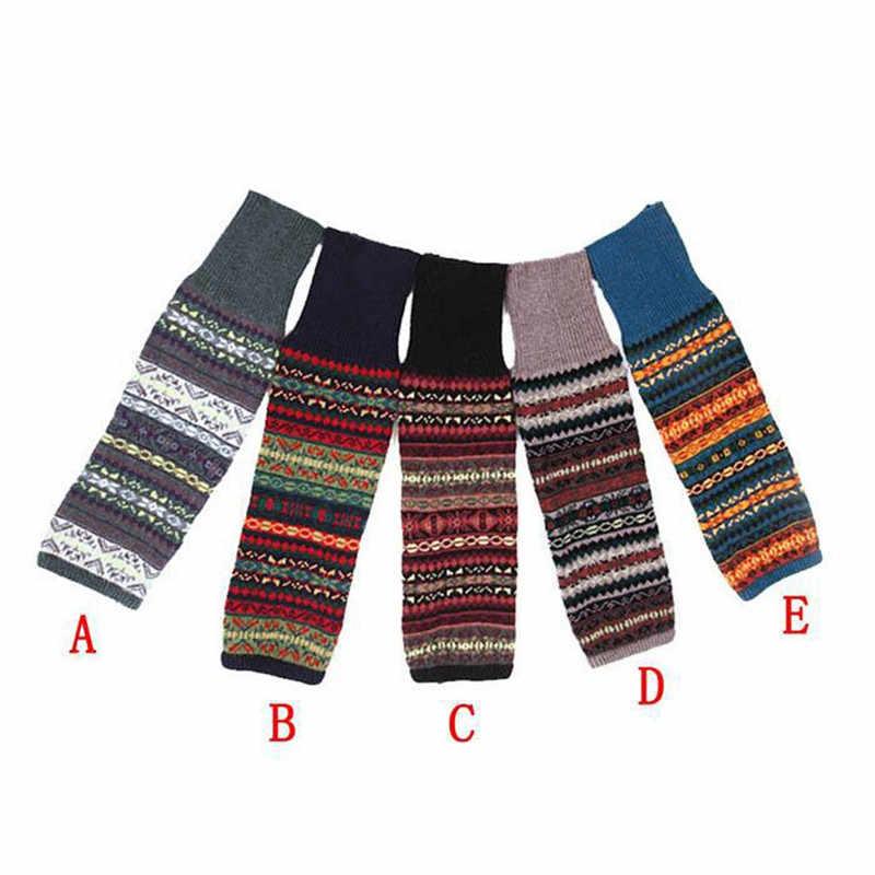 Sıcak noel geyik kadın kış sıcak örme bacak ısıtıcıları uzun çizme çorap diz üzerinde tığ işi renkli yün bacak ısıtıcıları çorap O12