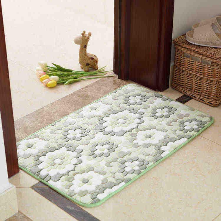 Color : Beige, Size : 4060cm CarPet Entry Door Mats Entrance Door Bedroom Kitchen Foyer Bathroom Absorbent Floor Mats Bathroom Mat Oval