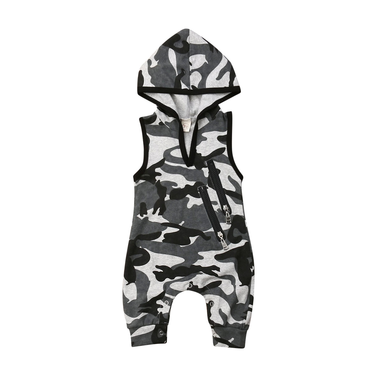Pudcoco Newborn Toddler Baby Boys Hooded Camo Romper Jumpsuit Outfits 2020 Baby Clothes 0-24M