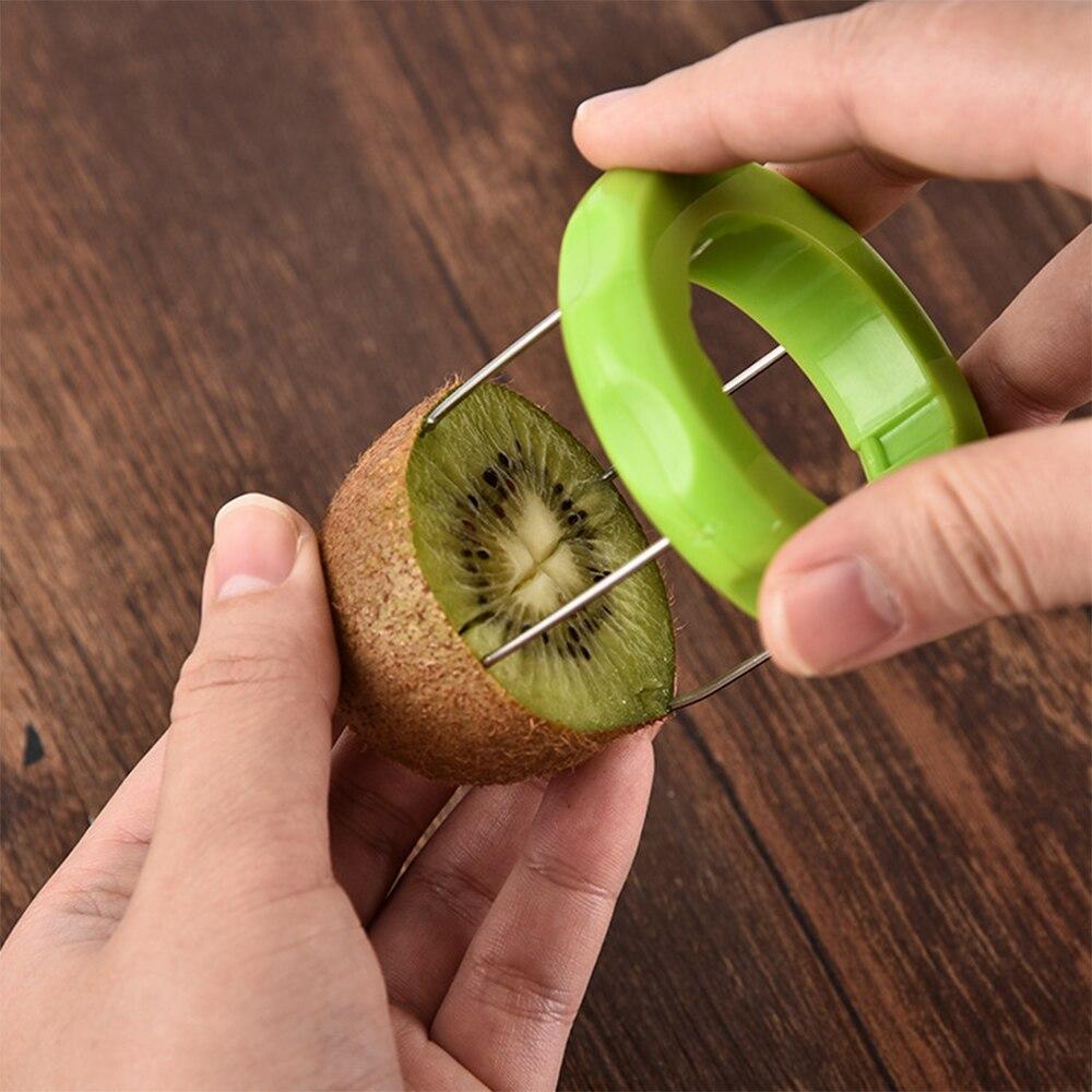 Éplucheur de cuisine coupe fruits   Kiwi dispositif de coupe pour fruits éplucheur de cuisine à couleur aléatoire creuser noyau, Twister trancheuse de cuisine fruits légumes outils de haute qualité