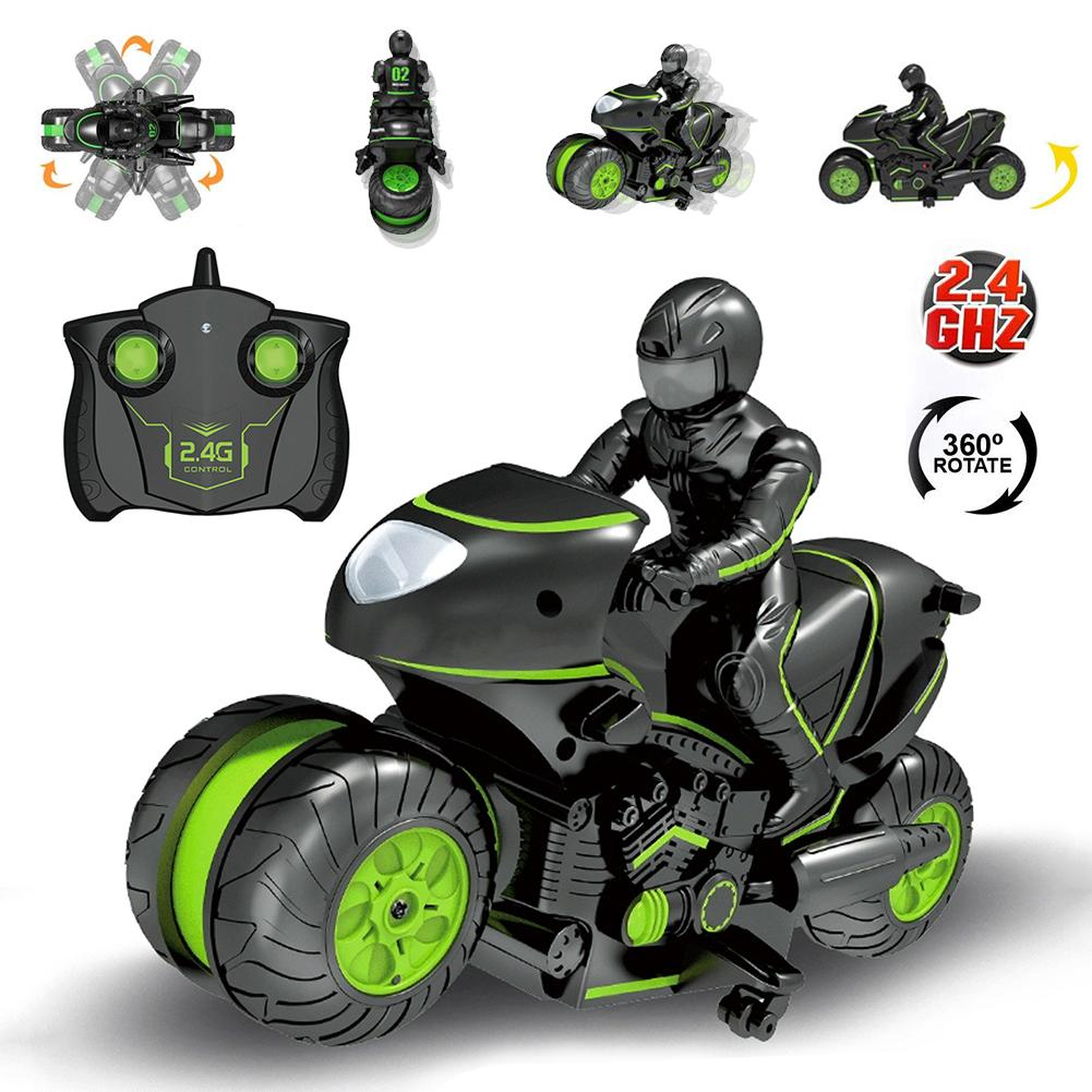 360 Degree Spinning Drift Motorbike 2 4G RC Stunt Motorcycle Toy High Speed Motorcycle One Key Switch Stunt RC Drone Kid Toy