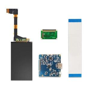 Image 4 - 5.5 cal 2K LCD ekran 1440x2560 LS055R1SX03 wyświetlacz z HDMI do MIPI płyta kontrolera dla WANHAO D7 3d drukarki części projektora