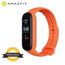 2020 nueva versión Global Amazfit Band 5 pulsera inteligente 5ATM ritmo cardíaco 11 Modo deportivo medir nivel de estrés banda inteligente para entrenamiento