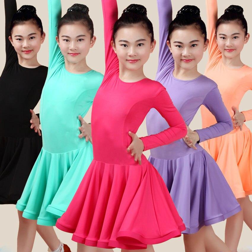 Latin Dance Dress For Girl Ballroom Dancing Rumba Samba Latin Kids Dance Costume 2020 News Collar Modern Carnival Jazz Dancewear