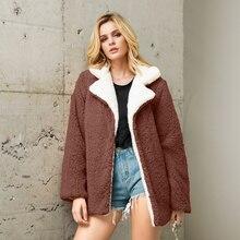 цены на Fashion Turn Down Collar Thick Warm Faux Fur Coat 2019 Winter Elegant Streetwear Long Fake Fur Jacket Hairy Overcoat Outwear  в интернет-магазинах